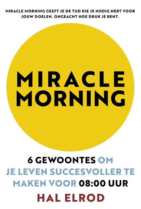 Boekcover: Miracle Morning, een boekentip van P-Plan