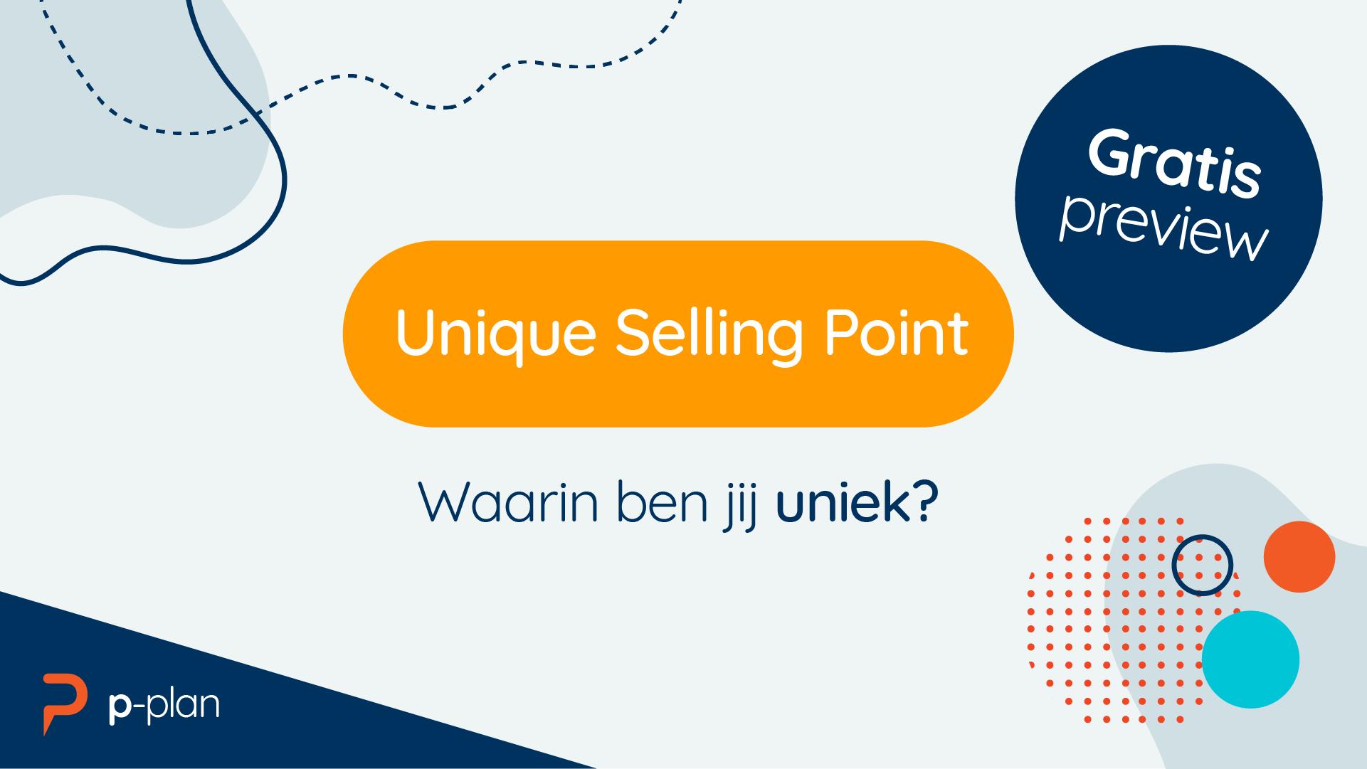 Deze gratis preview les gaat over je Unique selling point; waarin ben jij uniek?