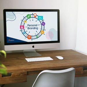 Mockup iMac op bureau