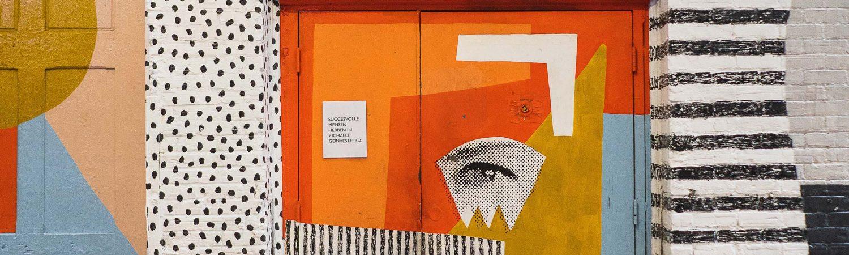 Sfeerbeeld van kleurrijke streetart