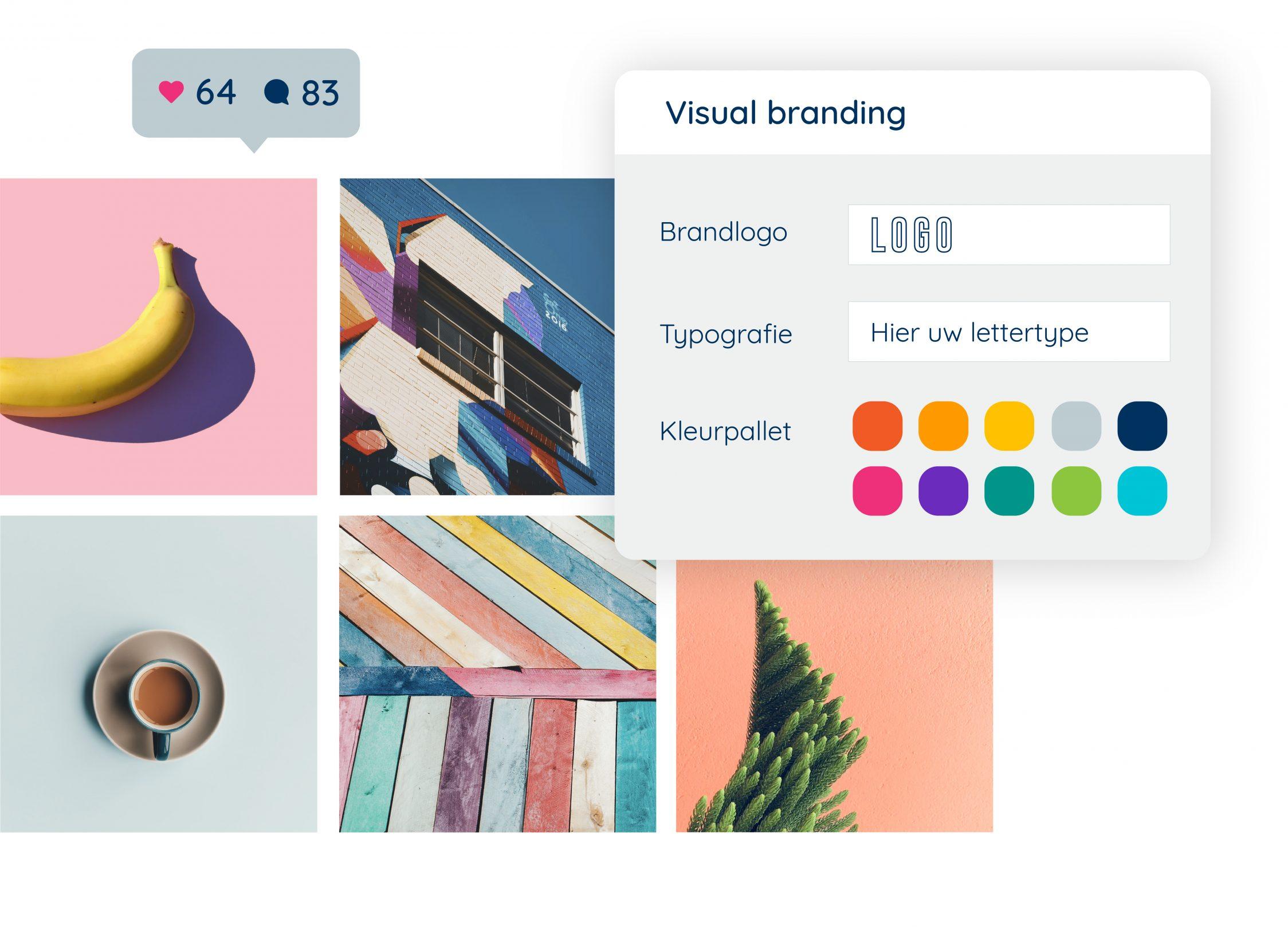 Visual branding designelementen